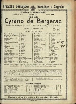 Cyrano de Bergerac Romantička komedija u 5 činova / od Edmonda Rostanda