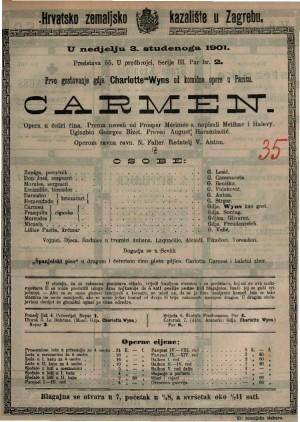 Carmen opera u četiri čina / uglazbio Georges Bizet
