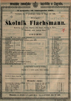Školnik Flaschmann komedija u tri čina / napisao Otto Ernst