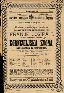 Korneviljska zvona Komična opera u 3 čina / Glasbu skladao Robert Planquette
