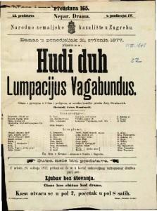 Ludi duh Lumpacijus Vagabundus gluma s pjevanjem u 3 čina i predigrom / za narodno kazalište priredio Josip Freudenreich