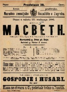 Macbeth : Velika opera u 4 čina / Uglasbio G. Verdi