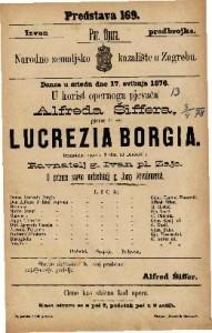 Lucrezia Borgia dramatična opera u 3 čina / od Donicetti-a
