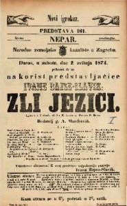 Zli jezici Igrokaz u 5 činah / od dra H. Laube-a