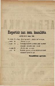 Repertoir nar. zem. kazališta od 26. do 31. svibnja 1889.