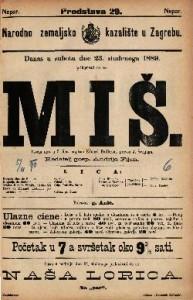 Miš : Vesela igra u 3 čina / s francezkoga preveo Edoard Pailleron