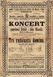 Koncert glasovitih umjetnicah na guslah Klotilde i Adele Milanollo