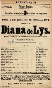 Diana de Lys Igrokaz u 5 činah / od Aleksandra Dumasa, sina