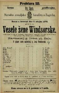 Vesele žene Windsorske vesela opera u 3 čina / po istoimenoj Schakespearevoj veseloj igri preradjeno po H. S. Mosenthalu