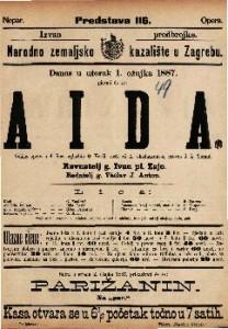 Aida : Velika opera u 4 činu / uglasbio G. Verdi