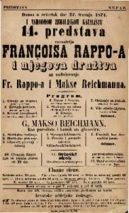 14. predstava Françoisa Rappo-a