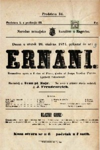 Ernani Romantična opera u 4 čina / od Piave