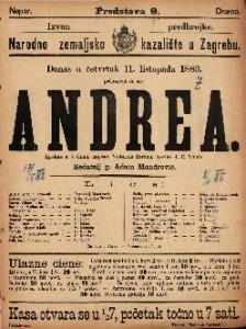Andrea Igrokaz u 5 činah / napisao Victorien Sardou