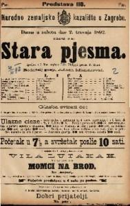 Stara pjesma Igrokaz u 3 čina / napisao Felix Philippi