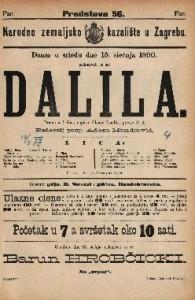 Dalila Drama u 4 čina / napisao Oktave Feuillet