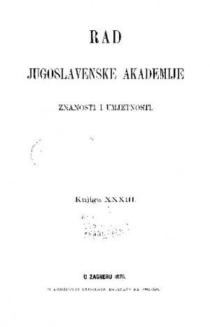 Knj. 33(1875) : RAD