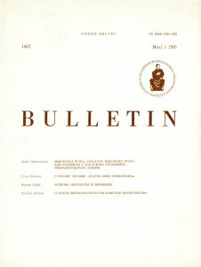 Br. 1(58) (1987) : Bulletin Razreda za likovne umjetnosti Jugoslavenske akademije znanosti i umjetnosti