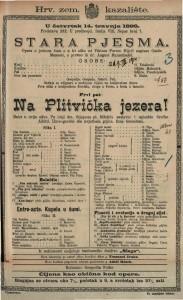 Stara pjesma Opera u jednom činu a u tri slike / od Viktora Parme