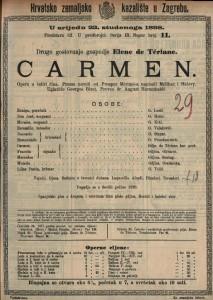 Carmen : Opera u četiri čina / Uglazbio Georges Bizet