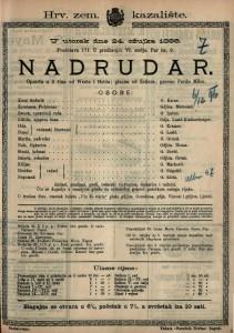 Nadrudar Opereta u 3 čina / glazba od Zellera
