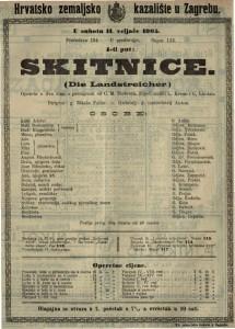 Skitnice opereta u dva čina s predigrom / od C. M. Ziehrera