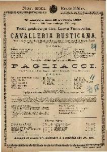 Cavalleria rusticana Opera u 1 činu / Uglazbio Pietro Mascagni