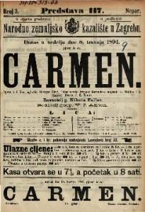 Carmen : Opera u 4 čina / uglazbio Georges Bizet