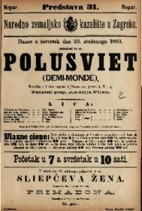 Polusviet : Komedija u 5 čina / napisao A. Dumas sin  =  Demi-monde