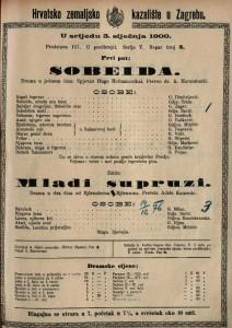 Sobeida drama u jednom činu / spjevao Hugo Hofmannsthal