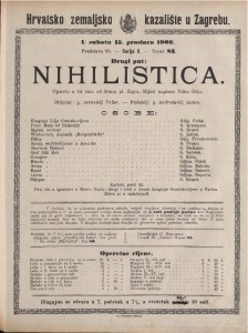 Nihilistica opereta u tri čina / od Ivana pl. Zajca