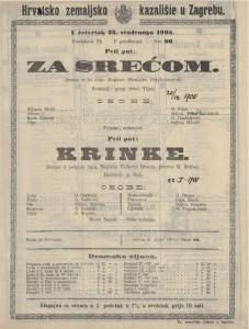 Krinke drama u jednom činu / napisao Roberto Bracco