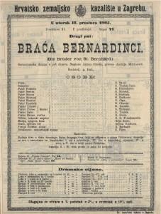 Braća Bernardinci samostanska drama u pet činova / napisao ANton Ohorn  =  Die Brüder von St. Bernhard