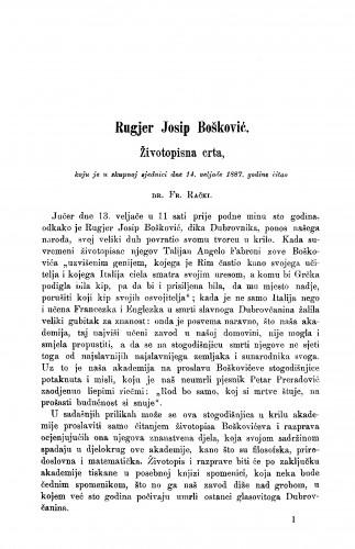 Rugjer Josip Bošković : životopisna crta : RAD