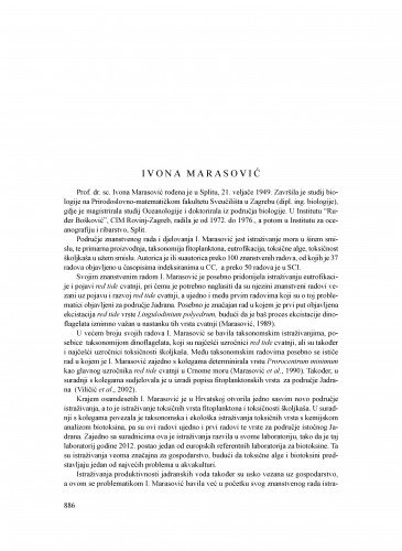 Ivona Marasović : Ljetopis
