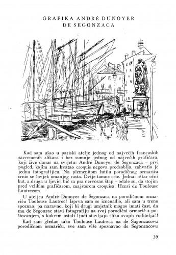 Grafika André Dunoyer de Segonzaca : Bulletin Instituta za likovne umjetnosti Jugoslavenske akademije znanosti i umjetnosti