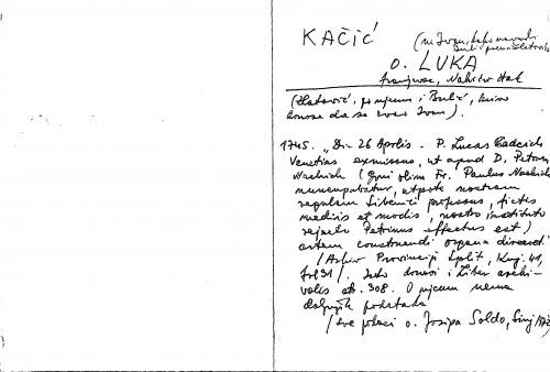 Kačić o. Luka franjevac, Nakićev đak