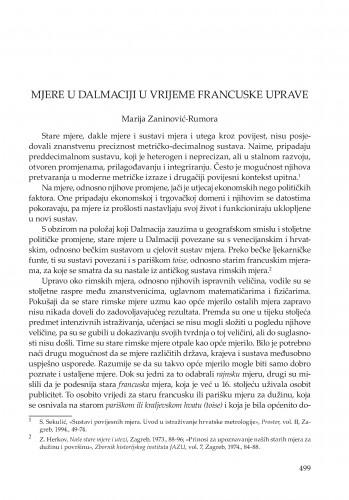 Mjere u Dalmaciji u vrijeme francuske uprave