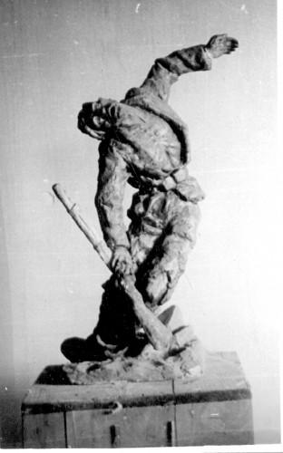 Radauš, Vanja (1906-1975) : Padajući ranjenik - skica
