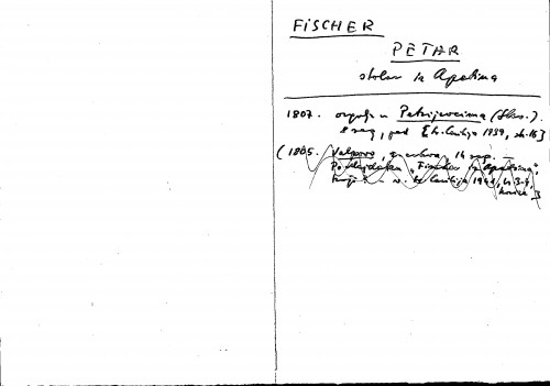 Fischer Petar stolar iz Apatina