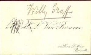Willy Graff : M. L. Van Berivaer