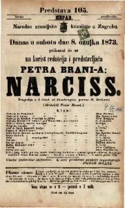 Narciss Tragedija u 5 činah / od Brachvogela