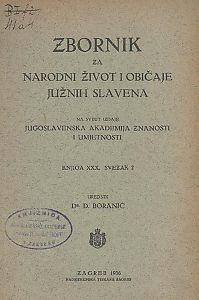 Knj. 30., sv. 2 (1936) : Zbornik za narodni život i običaje