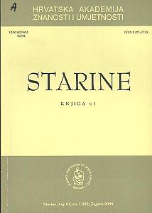 Knj. 63 (2005) : Starine