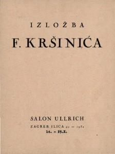 Izložba F. Kršinića
