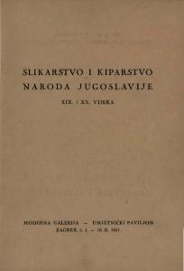 Slikarstvo i kiparstvo naroda Jugoslavije XIX. i XX. vijeka