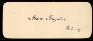 Marie Fragniere Fribourg
