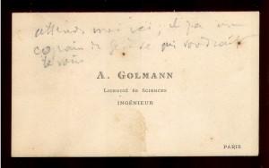 A. Golmann : licencie es sciences ; ingenieur