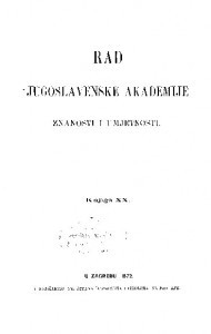 Knj. 20(1872) : RAD