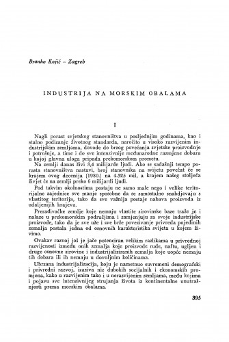 Industrija na morskim obalama / B. Kojić