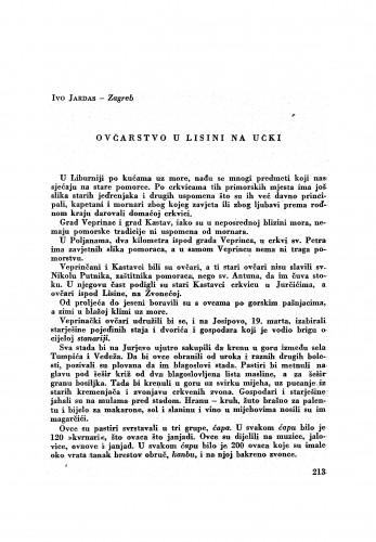 Ovčarstvo u Lisini na Učki / I. Jardas